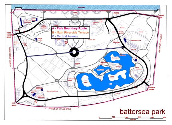 Battersea Park Sunny in London