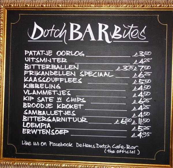De Hems Dutch Cafe Bar London