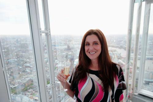 Sunny London Blog View Shard