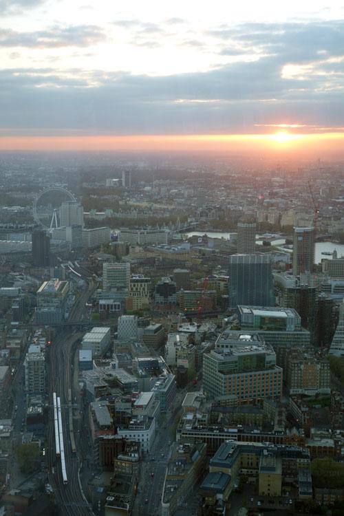 Sunny London Eye View Shard