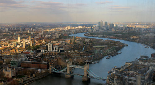 Sunny London Tower View Shard