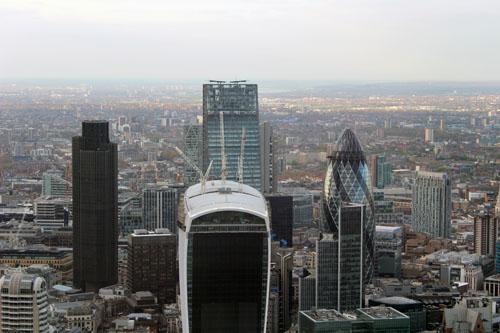 Sunny London View Shard Gherkin
