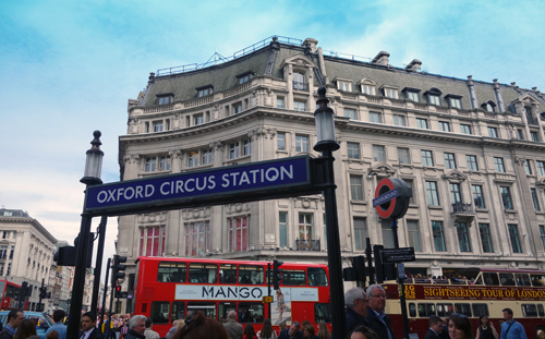 Oxford Circus Tube Station