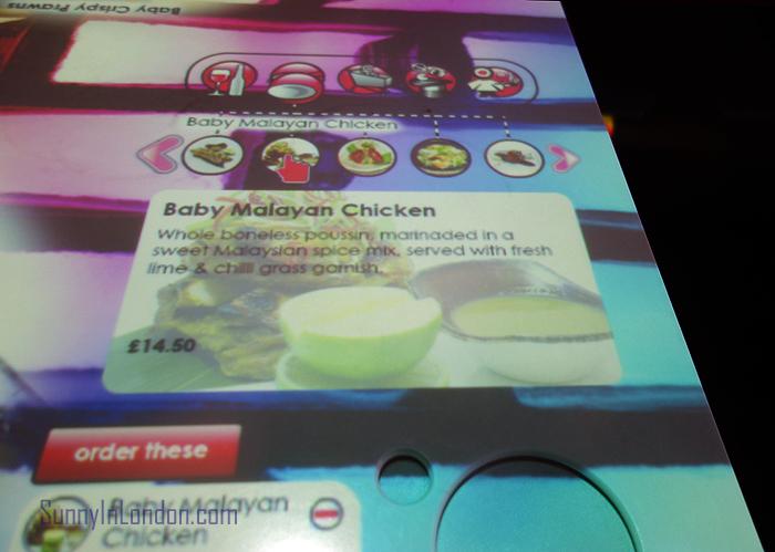 Inamo Restaurant London Baby Malayan Chicken