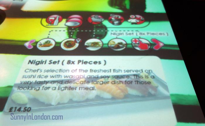 Inamo Restaurant London Nigiri Set