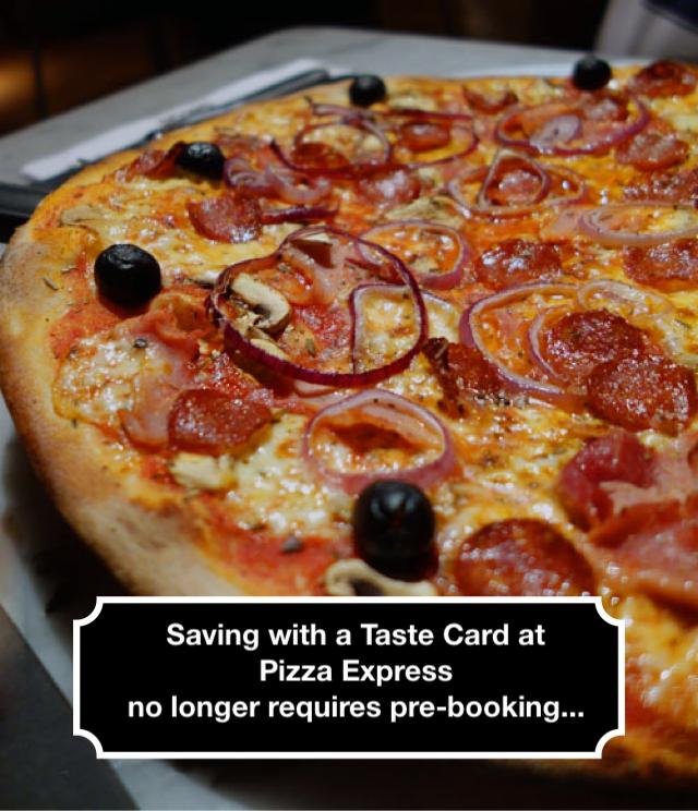 Using Tastecard at Pizza Express