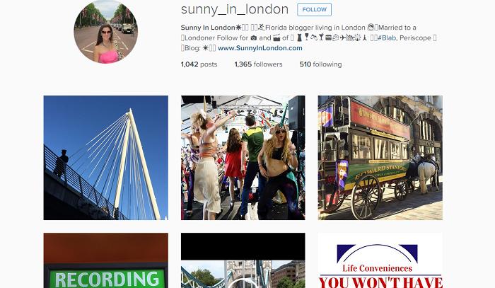 Americans living in London instagram sunny_in_london