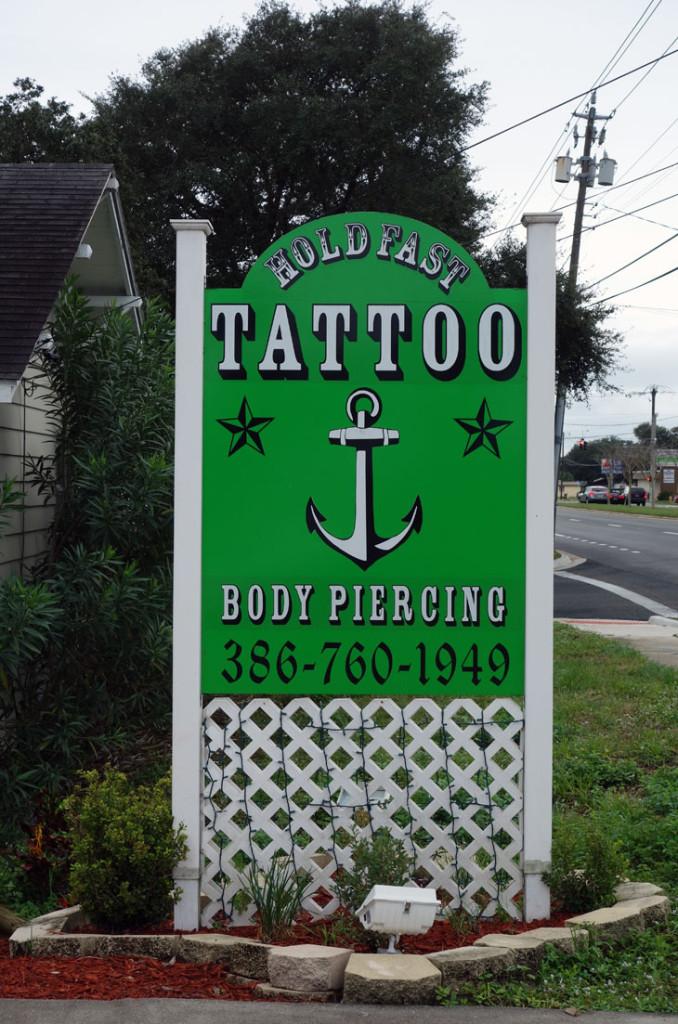 Getting a Travel Tattoo Hold Fast Daytona Beach