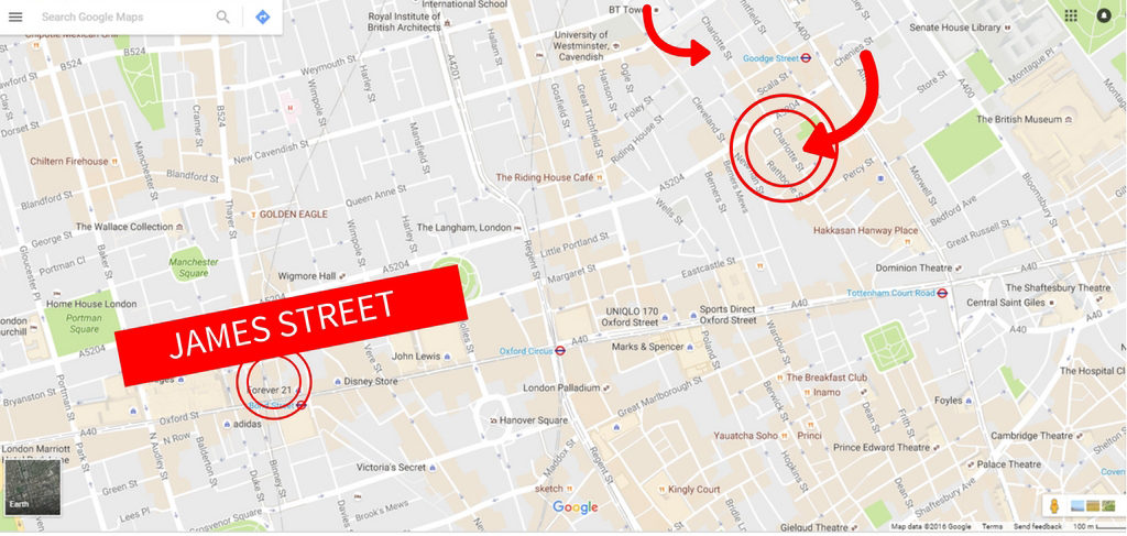 Where to Eat in London- 5 Streets for Foodies map