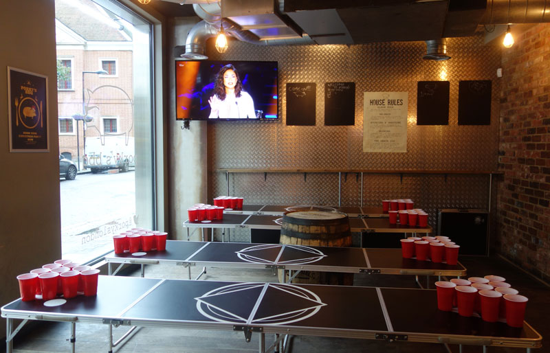 porkys-bbq-review-southbank-london-beer-pong