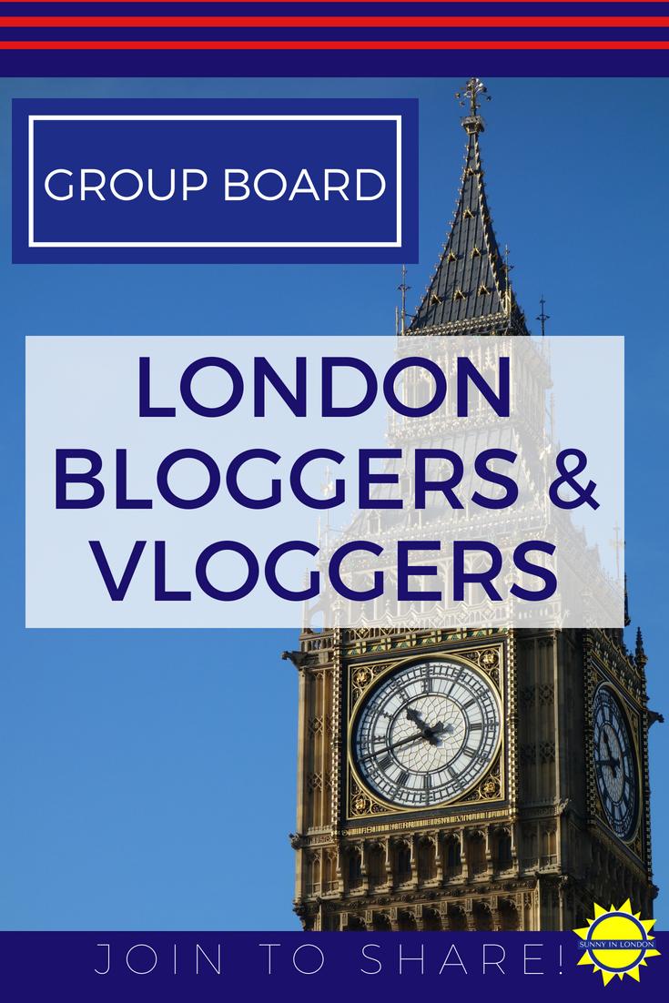 Bloggers Vloggers London Pinterest Group Board
